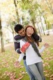 Giovane sorpresa delle coppie Fotografie Stock