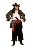 Giovane sorridente in un costume del pirata Immagini Stock