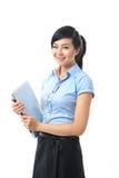 Giovane sorridere asiatico sicuro della donna di affari immagine stock