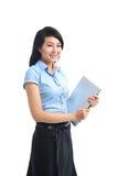 Giovane sorridere asiatico sicuro della donna di affari fotografia stock libera da diritti