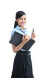 Giovane sorridere asiatico sicuro della donna di affari fotografia stock
