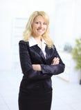 Giovane sorridere della donna di affari Fotografia Stock