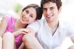 Giovane sorridere delle coppie Immagine Stock Libera da Diritti