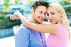 Giovane sorridere delle coppie Fotografia Stock