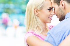 Giovane sorridere delle coppie Immagini Stock Libere da Diritti