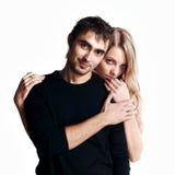 Giovane sorridere delle coppie di amore. Immagini Stock Libere da Diritti