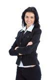 Giovane sorridere felice della donna di affari Immagini Stock