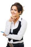 Giovane sorridere sicuro della donna di affari Immagine Stock