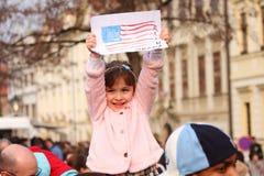 Giovane sostenitore di Obama Fotografie Stock
