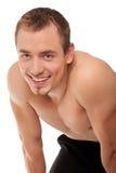 Giovane sportivo con un torso nudo fotografia stock
