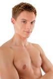 Giovane sportivo con un torso nudo Immagini Stock