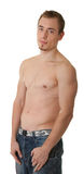 Giovane sportivo con un torso nudo Immagini Stock Libere da Diritti