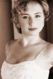 Giovane sposa bionda nel bianco Fotografia Stock Libera da Diritti