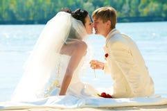 Giovane sposa in estate Fotografie Stock Libere da Diritti