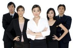 Giovane squadra asiatica di affari immagini stock