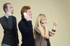 Giovane squadra che comunica Immagini Stock Libere da Diritti