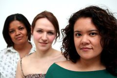 Giovane squadra femminile di affari - casuale Fotografia Stock