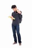 Giovane studente asiatico che ha uno sforzo Fotografia Stock