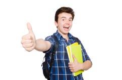 Giovane studente With Book Fotografia Stock Libera da Diritti