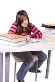Giovane studente che studia per gli esami Fotografia Stock Libera da Diritti