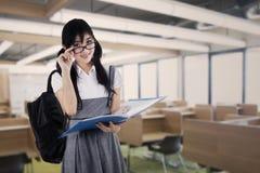 Giovane studente della High School a classe Immagini Stock Libere da Diritti