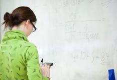 Giovane studente di college femminile Fotografie Stock