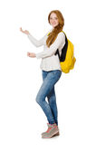 Giovane studente isolato Fotografie Stock
