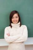 Giovane studente o insegnante asiatico sicuro Immagine Stock