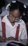 Giovane studente in uniforme scolastico Fotografia Stock Libera da Diritti