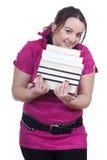 Giovane studentessa grassa Fotografia Stock
