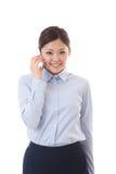 Giovane telefono della donna di affari Fotografie Stock Libere da Diritti