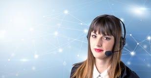 Giovane telemarketer femminile immagine stock