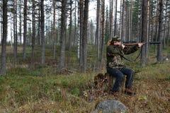 Giovane tendenza femminile del cacciatore delle alci Fotografia Stock