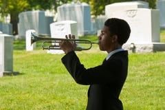 Giovane trombettista a Arlington Immagini Stock Libere da Diritti