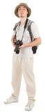 Giovane turista con la macchina fotografica immagine stock libera da diritti