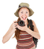 Giovane turista con la macchina fotografica fotografia stock