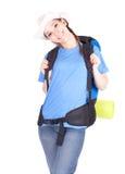 Giovane turista femminile Fotografie Stock
