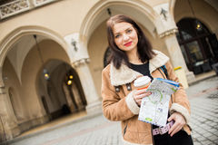 Giovane turista femminile Fotografia Stock