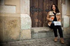 Giovane turista femminile Immagine Stock