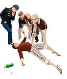 Giovane ubriaco o avvelenato Fotografia Stock
