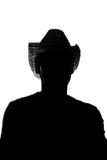 Giovane in un cappello di paglia - siluetta Immagine Stock Libera da Diritti