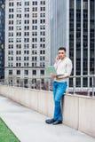 Giovane uomo americano che studia a New York, Fotografia Stock