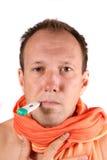 Giovane uomo ammalato Fotografia Stock Libera da Diritti