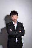 Giovane uomo asiatico di affari Fotografie Stock Libere da Diritti