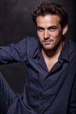 Giovane uomo attraente del caucasian di anni '20 del brunette Immagini Stock Libere da Diritti