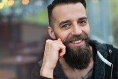 Giovane uomo barbuto Immagine Stock Libera da Diritti