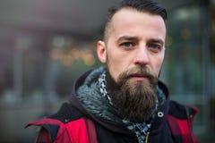 Giovane uomo barbuto Fotografie Stock