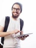 Giovane uomo barbuto felice Immagini Stock Libere da Diritti