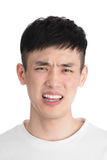 Giovane uomo bello dell'Asia - isolato sopra un fondo bianco Fotografia Stock Libera da Diritti