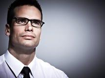Giovane uomo d'affari. Fotografia Stock